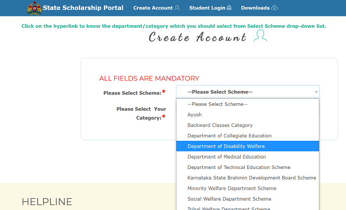 ssp karnataka gov in scholarship